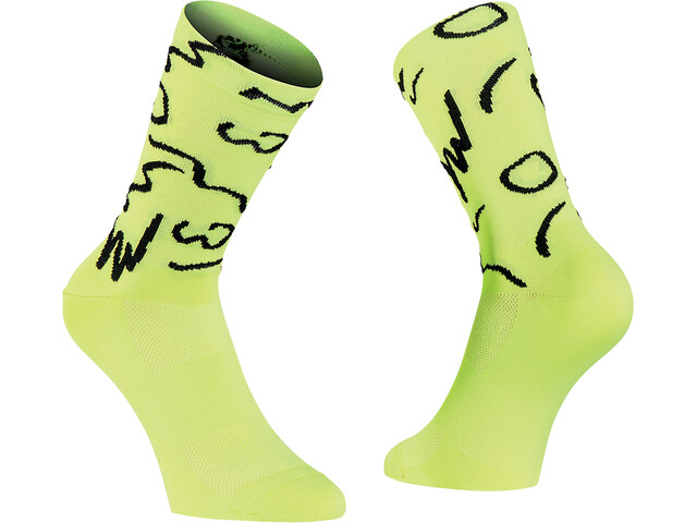 Northwave Vibe Sokken Heren, yellow fluo/black